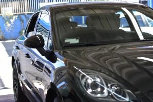 Porsche Macan LLumar Ceramic window film installed, 3M Window tint shop, Crystalline window film