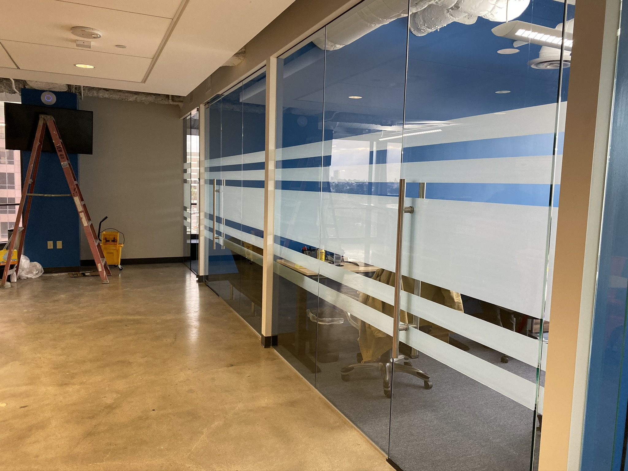commercial office space window film