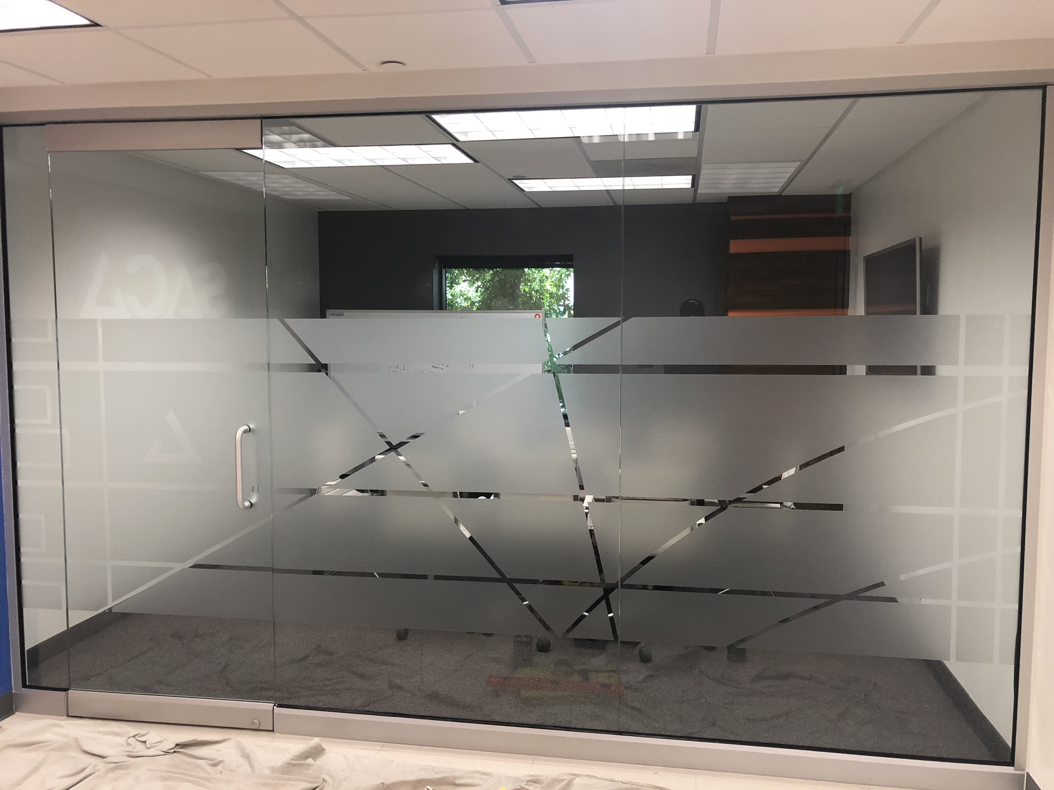 white frost film for office