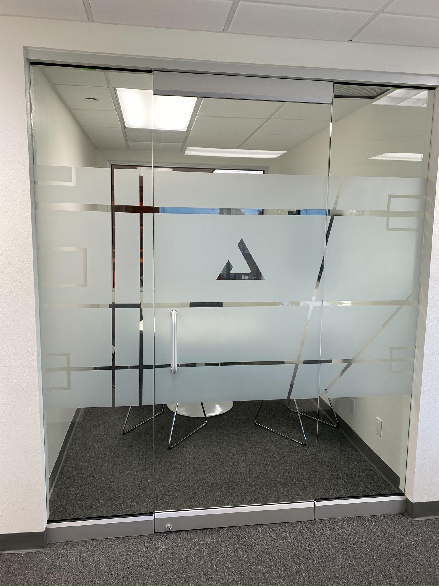 custom cut design white frost for office