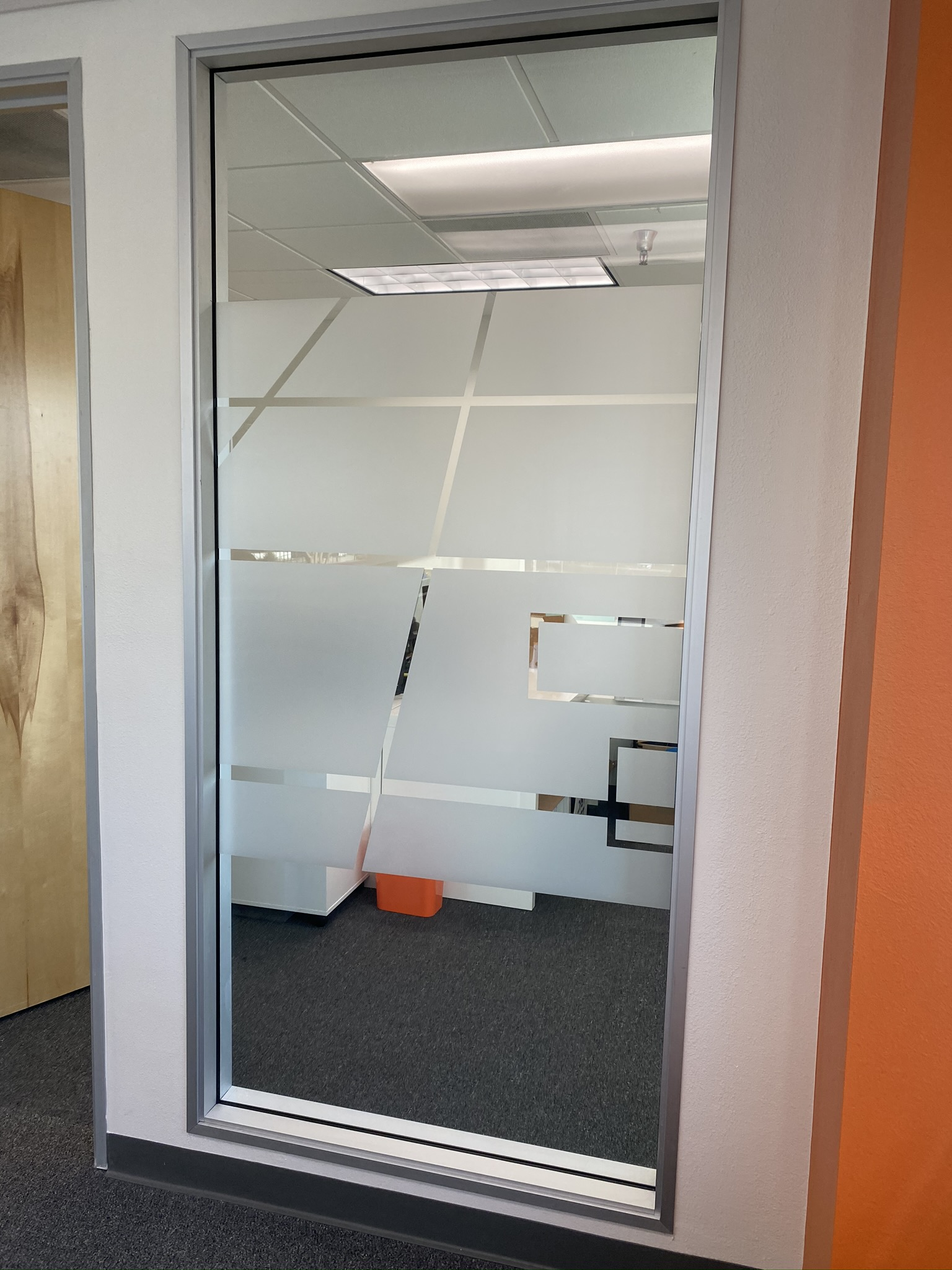 design white frost window film