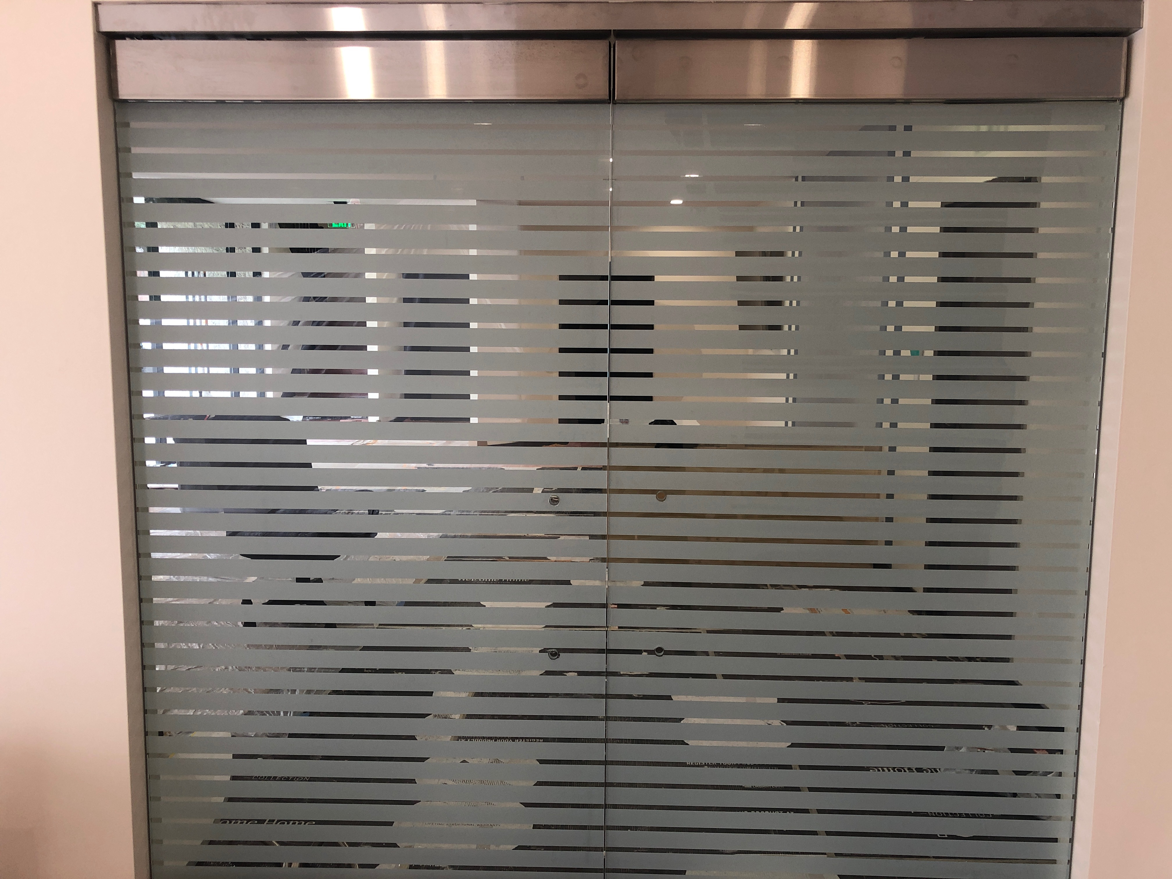 Decorative window film installation