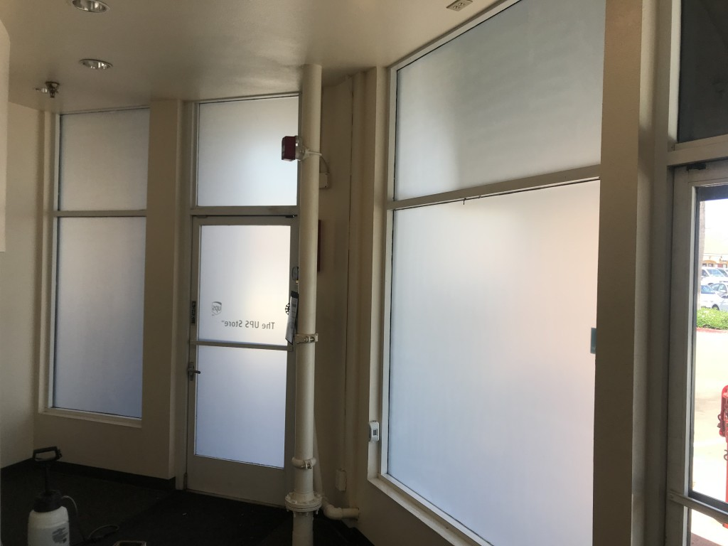 white frost film, privacy film, commercial film, 3m window film, best window tint shop