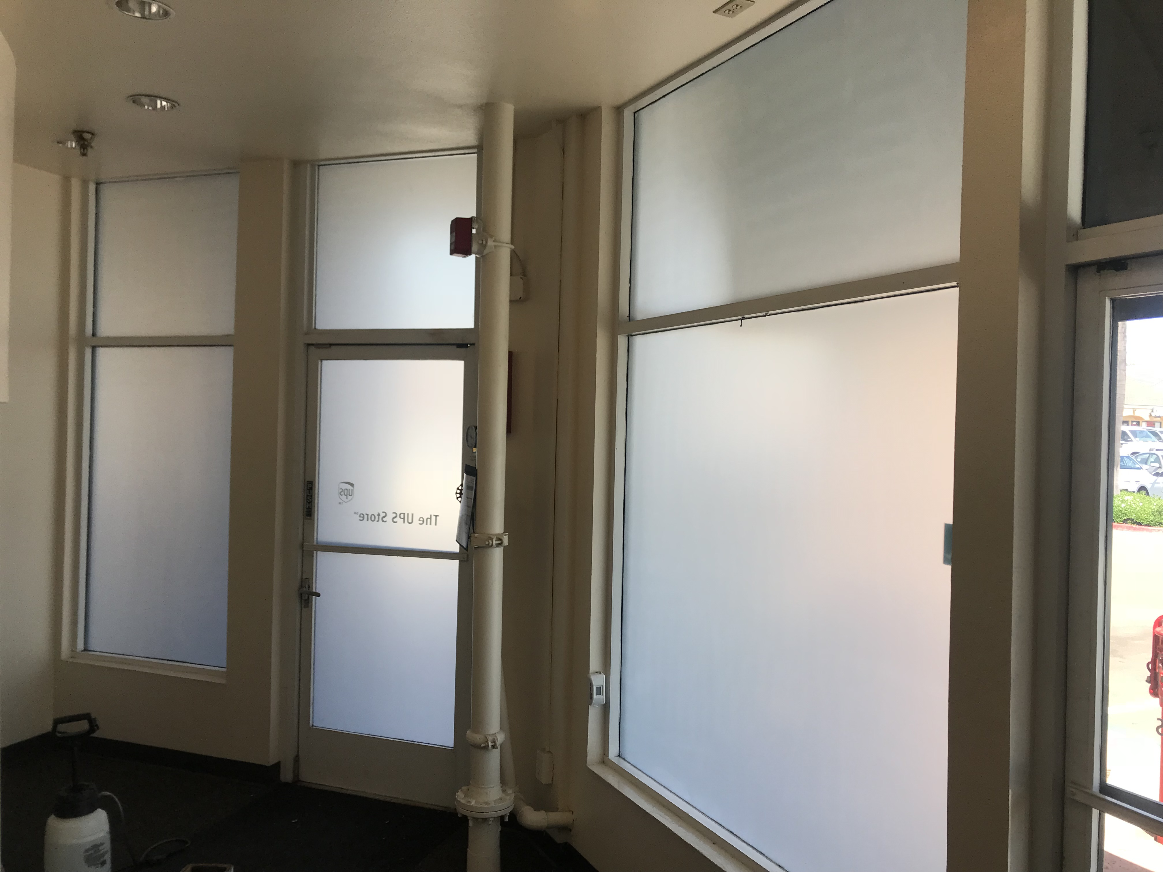 white frost film, privacy film, commercial film, 3m window film, best window tint shop